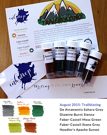 Ink Drop August 2015 Selections