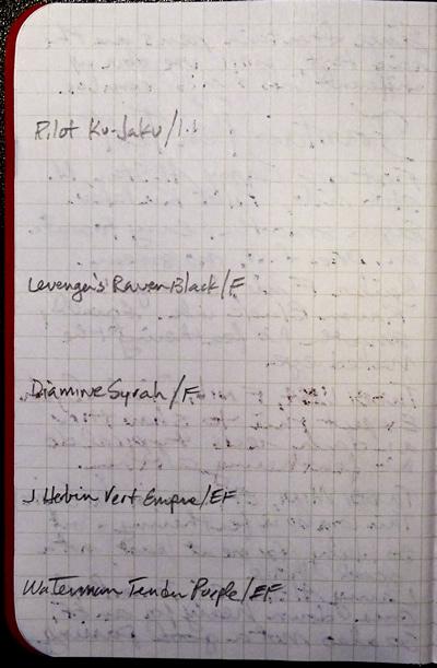 Field Notes Shenandoah show-through
