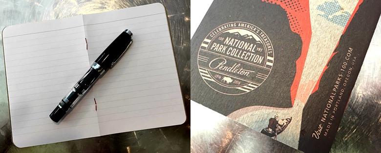 Pendleton National Parks Notebook Details