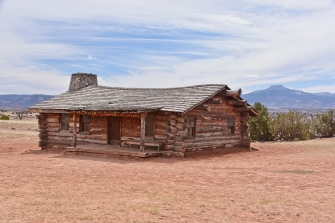 Ghost Ranch rustic cabin built for the City Slickers movie
