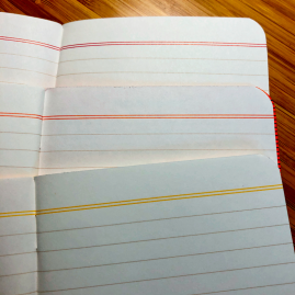 Double-lines at page tops color match covers. Cool.